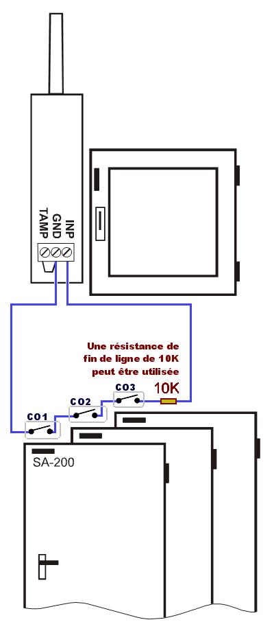 Alarme intrusion contacteur sans fil ja60n dtecteur d - Alarme de porte sans fil ...
