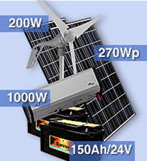 kit hybride solaire olienne 470w pour avoir du 220v 1kw pour site isol. Black Bedroom Furniture Sets. Home Design Ideas