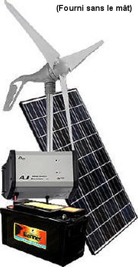 kit hybride solaire olienne 335w pour avoir du 220v. Black Bedroom Furniture Sets. Home Design Ideas